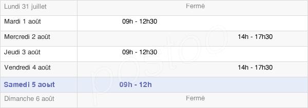 horaires d'ouverture de la Mairie De Amailloux