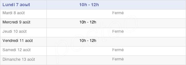 horaires d'ouverture de la Mairie De Caunay