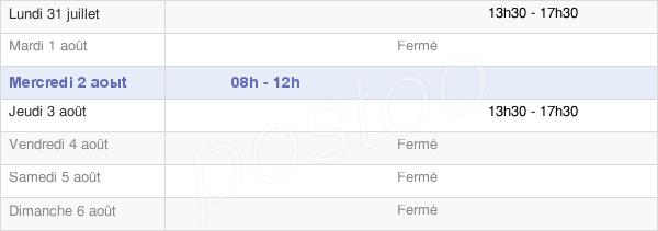 horaires d'ouverture de la Mairie De Bougon