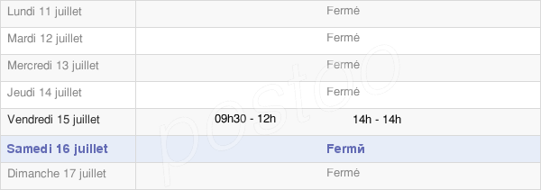 horaires d'ouverture de la Mairie De Fors