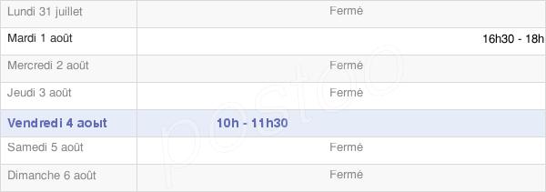 horaires d'ouverture de la Mairie De Pugny