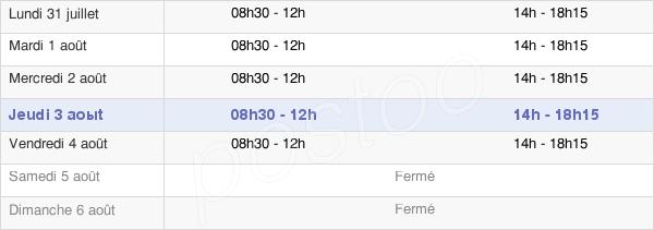 horaires d'ouverture de la Mairie De Courlay