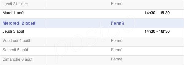 horaires d'ouverture de la Mairie De Bouin