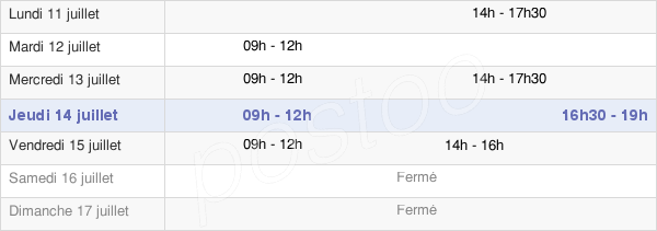 horaires d'ouverture de la Mairie D'Epannes