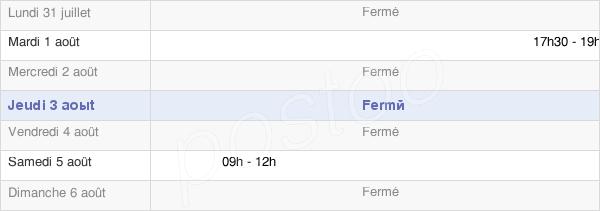 horaires d'ouverture de la Mairie De Colombier
