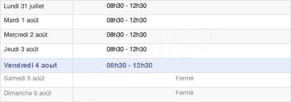 horaires d'ouverture de la Mairie De Ginestet