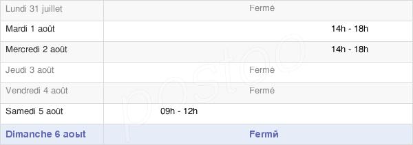 horaires d'ouverture de la Mairie De Sémelay
