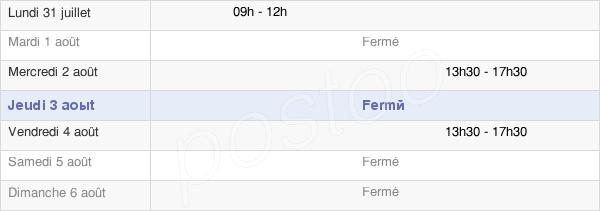 horaires d'ouverture de la Mairie De Queyssac