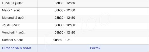 horaires d'ouverture de la Mairie de Saint-Georges-de-Pointindoux