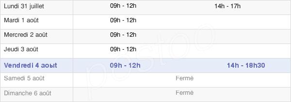 horaires d'ouverture de la Mairie De La Chapelle-Achard