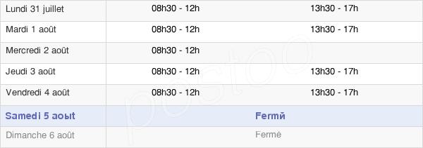 horaires d'ouverture de la Mairie De La Guérinière