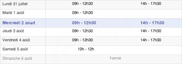 horaires d'ouverture de la Mairie De Dompierre-Sur-Yon