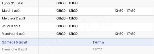 horaires d'ouverture de la Mairie De Foussais-Payré