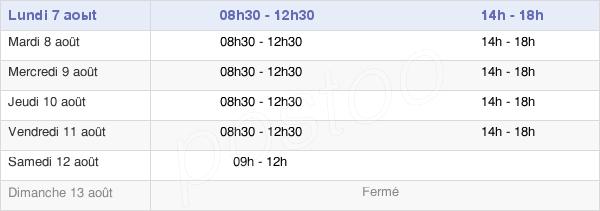 horaires d'ouverture de la Mairie De Mouilleron-Le-Captif