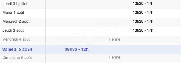 horaires d'ouverture de la Mairie De Sourniac