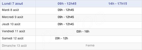 horaires d'ouverture de la Mairie De Poiroux