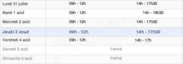 horaires d'ouverture de la Mairie De Sainte Florence