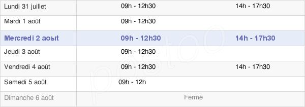 horaires d'ouverture de la Mairie De Rocheservière
