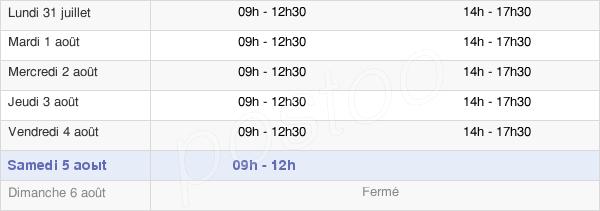 horaires d'ouverture de la Mairie Du Poiré-Sur-Vie