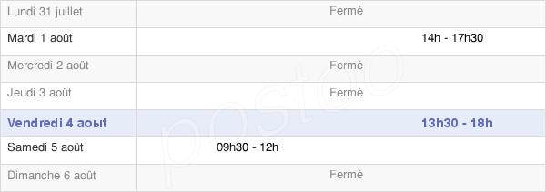 horaires d'ouverture de la Mairie De Saint-Juire-Champgillon