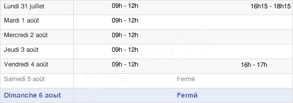 horaires d'ouverture de la Mairie De La Pommeraie-Sur-Sèvre