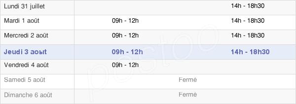 horaires d'ouverture de la Mairie De Saint-Aubin-La-Plaine