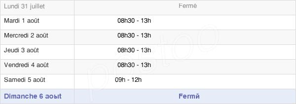 horaires d'ouverture de la Mairie De Saint-André-Goule-D'Oie