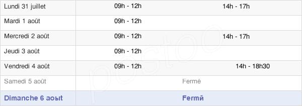 horaires d'ouverture de la Mairie De Sainte-Flaive-Des-Loups