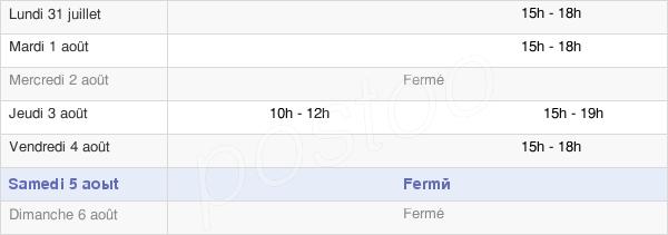 horaires d'ouverture de la Mairie De Saint-Laurent-De-La-Salle