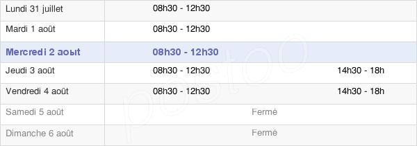 horaires d'ouverture de la Mairie De Saint-Gervais