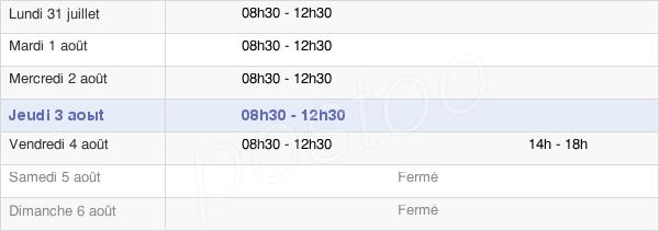 horaires d'ouverture de la Mairie De Saint-Mathurin