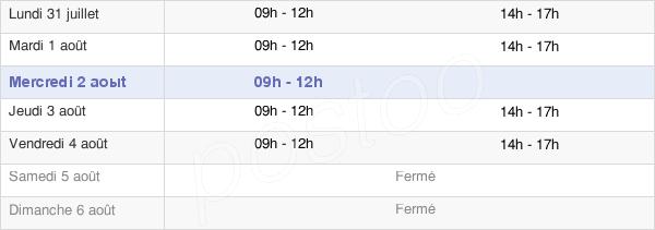 horaires d'ouverture de la Mairie De Vitrac