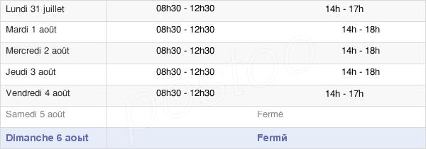 horaires d'ouverture de la Mairie De Beauvoir-Sur-Mer