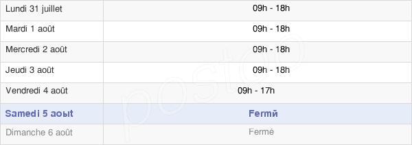 horaires d'ouverture de la Mairie De Jard-Sur-Mer