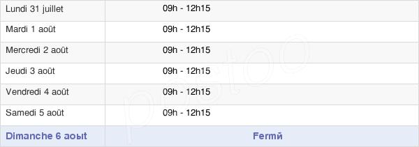 horaires d'ouverture de la Mairie De Chambretaud