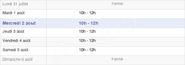 horaires d'ouverture de la Mairie De Saint-Etienne-De-Brillouet