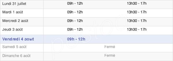 horaires d'ouverture de la Mairie De Saint-Hilaire-La-Forêt