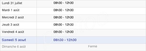 horaires d'ouverture de la Mairie De Grosbreuil