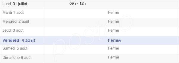 horaires d'ouverture de la Mairie De Tiviers