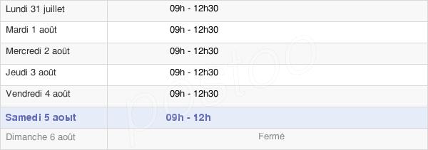 horaires d'ouverture de la Mairie D'Apremont