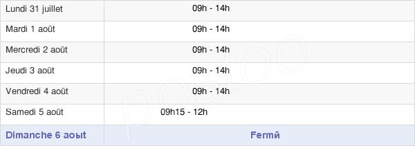 horaires d'ouverture de la Mairie De Saint-Denis-La-Chevasse