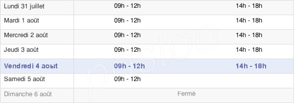 horaires d'ouverture de la Mairie Des Herbiers