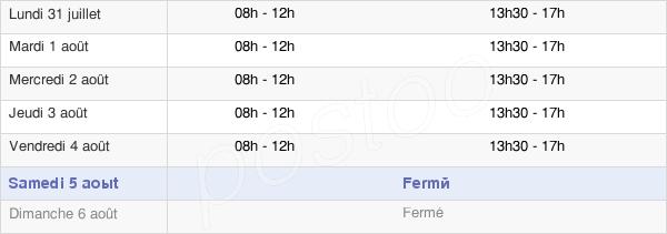 horaires d'ouverture de la Mairie De Condat