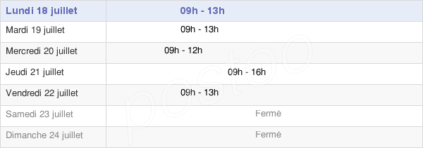horaires d'ouverture de la Mairie Du Poiré-Sur-Velluire