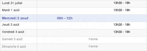 horaires d'ouverture de la Mairie De Saint-Michel-Le-Cloucq