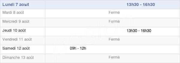 horaires d'ouverture de la Mairie De Salins