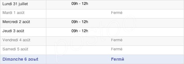 horaires d'ouverture de la Mairie De Bercloux