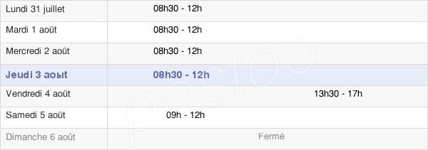 horaires d'ouverture de la Mairie De Marans