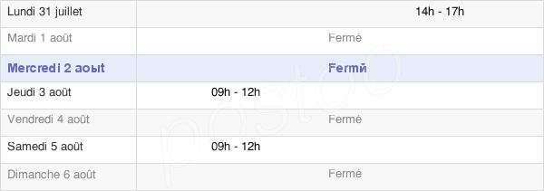 horaires d'ouverture de la Mairie De Saint-Poncy