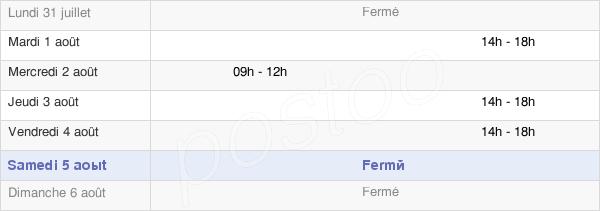 horaires d'ouverture de la Mairie De Fontenet
